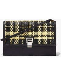 Proenza Schouler Woven Plaid Lunch Bag - Black