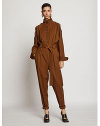 Proenza Schouler Wool Suiting Jumpsuit - Brown