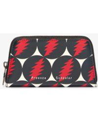 Proenza Schouler Grateful Dead Trapeze Zip Compact Wallet - Red
