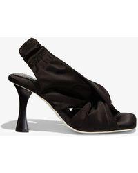 Proenza Schouler Twisted Scarf Sandals - Black