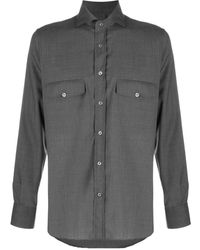 Canali Double Chest Pocket Shirt - Gray