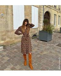 Promod Robe-chemise - Multicolore