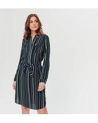Promod Robe-chemisier rayée - Multicolore