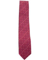 Eton of Sweden - Small Floral Silk Tie - Lyst