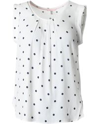 Joules - Cap Sleeve Spotty Top - Lyst