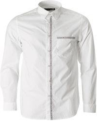 Moschino - Regular Fit Taped Logo Shirt - Lyst