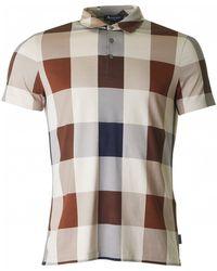 Aquascutum - Cody Club Check Short Sleeved Polo - Lyst