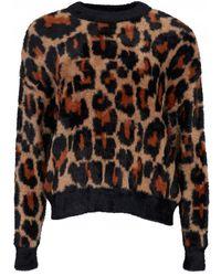 Silvian Heach Mansuria Leopard Print Knit - Multicolour