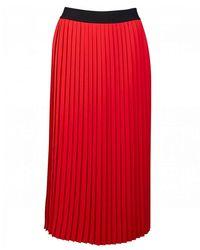 HUGO Ralissy 1 Logo Waistband Skirt - Red