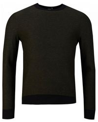 BOSS by Hugo Boss Akanicos Rainbow Cotton Jumper - Black