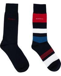 BOSS by Hugo Boss 2 Pack Rs Stripe Socks - Blue