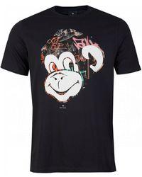 Paul Smith Graffiti Monkey T-shirt - Black