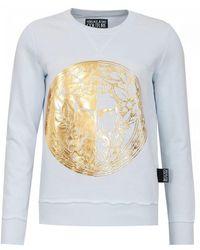 Versace Jeans Foil Logo Sweat - White