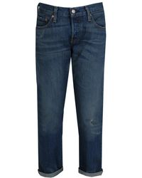 Levi's - 501 Ct Style Used Stonewash Jeans - Lyst