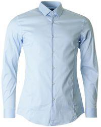 BOSS Black - Ilan Slim Fit Stretch Shirt - Lyst