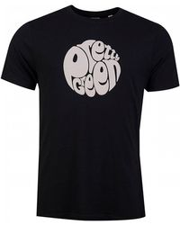 Pretty Green Gillespie Logo T Shirt - Black