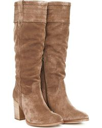 Barbour Elena Knee High Slouch Boots - Brown