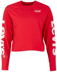 Levi's - Graphic Cropped Long Sleeved - Lyst