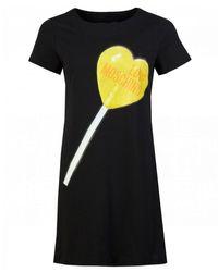 Love Moschino Lollipop Fitted T-shirt Dress - Black