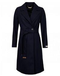 Ted Baker Lightweight Wool Wrap Coat - Blue