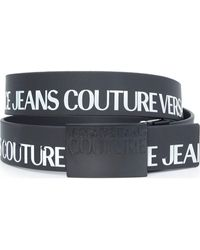 Versace Jeans Couture Couture Logo Leather Belt - Black