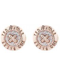 Ted Baker - Eisley Enamel Mini Button Earrings - Lyst
