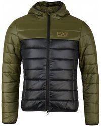 EA7 - Train Tri Tonal Hooded Padded Jacket - Lyst