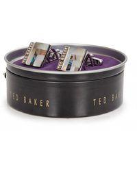 Ted Baker Burro Deco Cufflinks - Gray