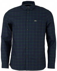 Lacoste - Long Sleeved Checked Shirt - Lyst