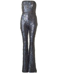 French Connection - Sequin Strapless All In One Jumpsuit - Lyst