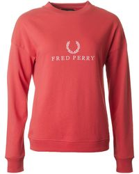 Fred Perry - Embroidered Logo Sweatshirt - Lyst
