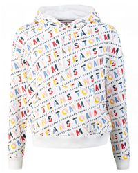 Tommy Hilfiger All Over Logo Hoody - White