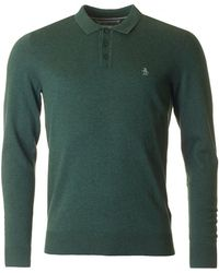 Original Penguin - Long Sleeved Knitted Polo - Lyst