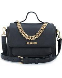 Moschino Love Moschino Chain Detail Crossbody Bag - Black