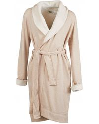UGG Duffield Ii Fleece Lined Dressing Gown - Natural