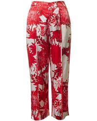 Saint Tropez Flower Print Pants - Red