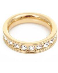 Ted Baker - Claudie Narrow Swarovski Crystal Ring - Lyst
