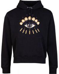 KENZO Icons Eye Pop Over Hoody - Black