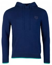 KENZO Tiger Crest Hooded Sweater - Blue
