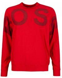 BOSS by Hugo Boss Walci Logo Knitted Jumper - Red