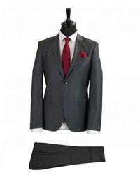BOSS by Hugo Boss Arti Extra Slim Check Suit - Grey