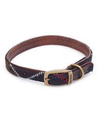 Barbour - Wool Touch Tartan Dog Collar - Lyst