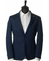 Michael Kors - Cotton Linen Slim Fit Blazer - Lyst