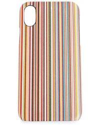 Paul Smith Multi Striped Iphone X Case - Multicolour
