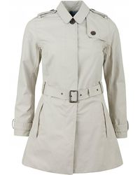 Barbour - Quarry Waterproof Belted Trench Coat - Lyst
