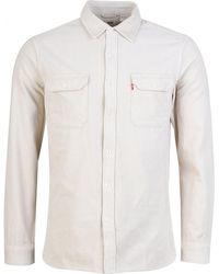 Levi's Jackson Worker Cord Shirt - White