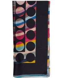 Paul Smith - Dots And Spots Swirl Square Scarf - Lyst