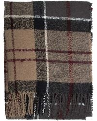 Barbour - Large Tartan Boucle Scarf - Lyst