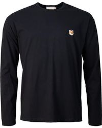 Maison Kitsuné - Fox Head Patch Long Sleeved T-shirt - Lyst