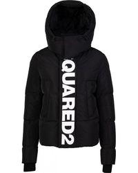 DSquared² Logo Band Puffa Jacket - Black